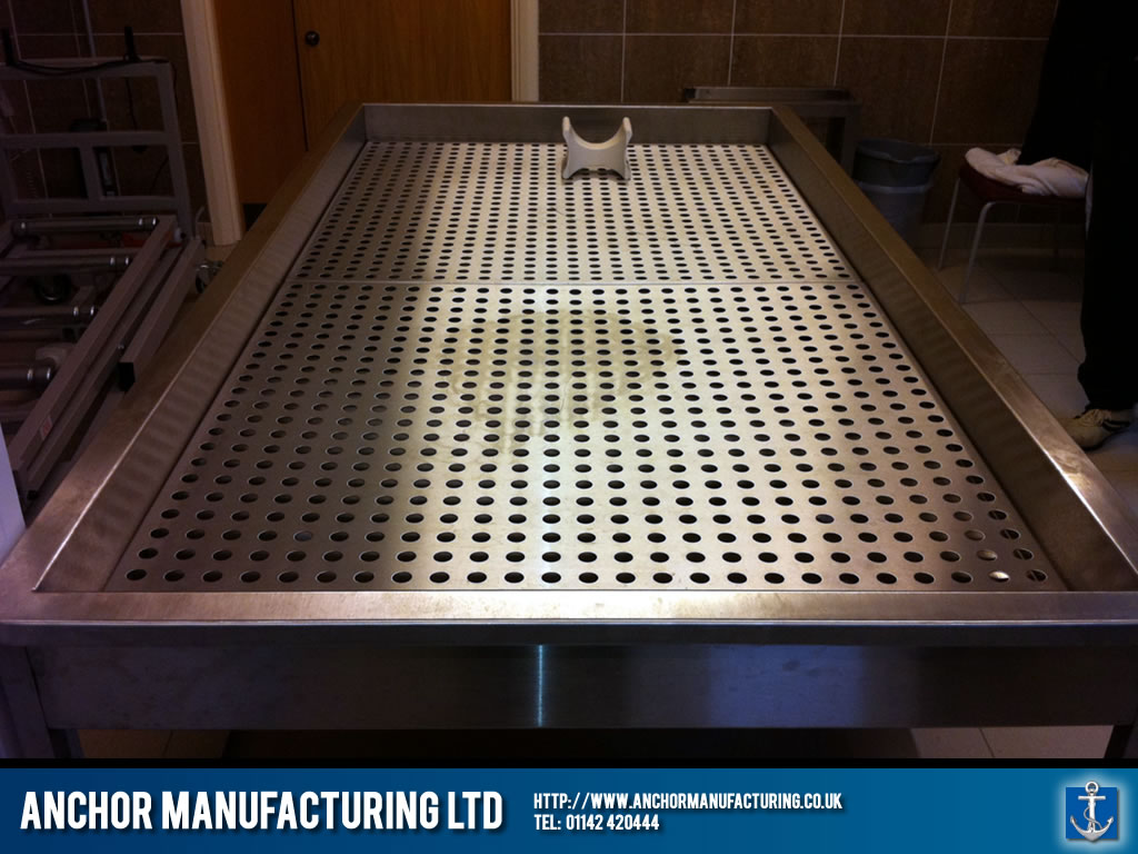Stainless Steel Morgue Table Anchor Manufacturing Ltd