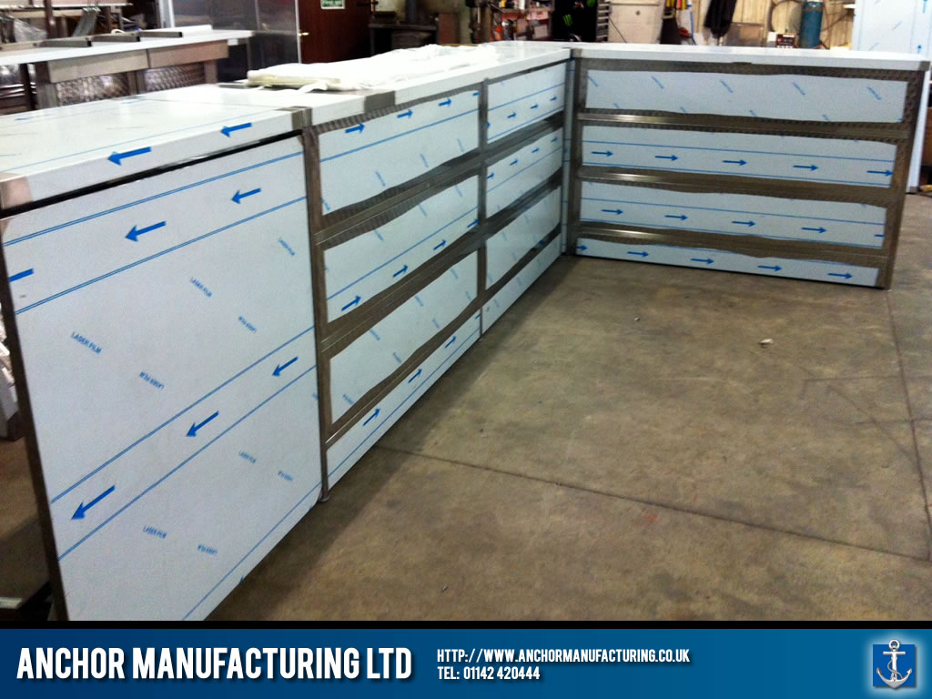Sheffield Stainless Steel Shop Counters Anchor