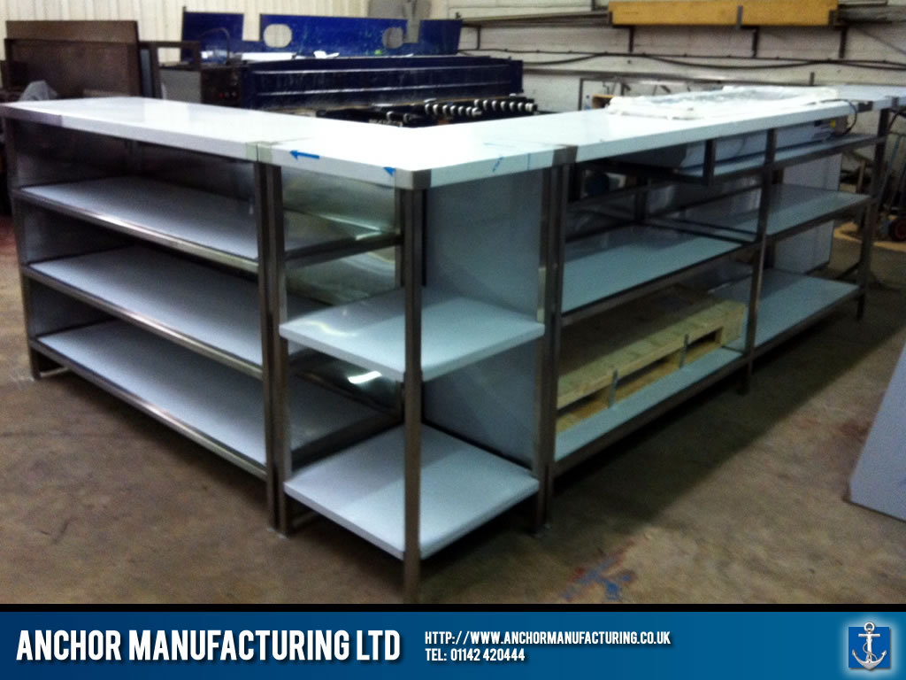 Shop Countertops : Shop counter stainless steel. Anchor Manufacturing LTD