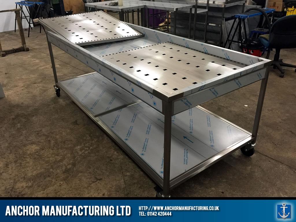 Bespoke Custom Made Steel Mortuary Tables Anchor