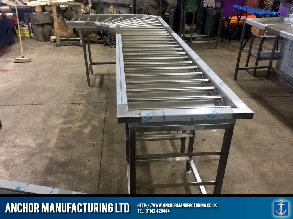Cannon Hall Farm Custom Dishwashing Tables Fabrication