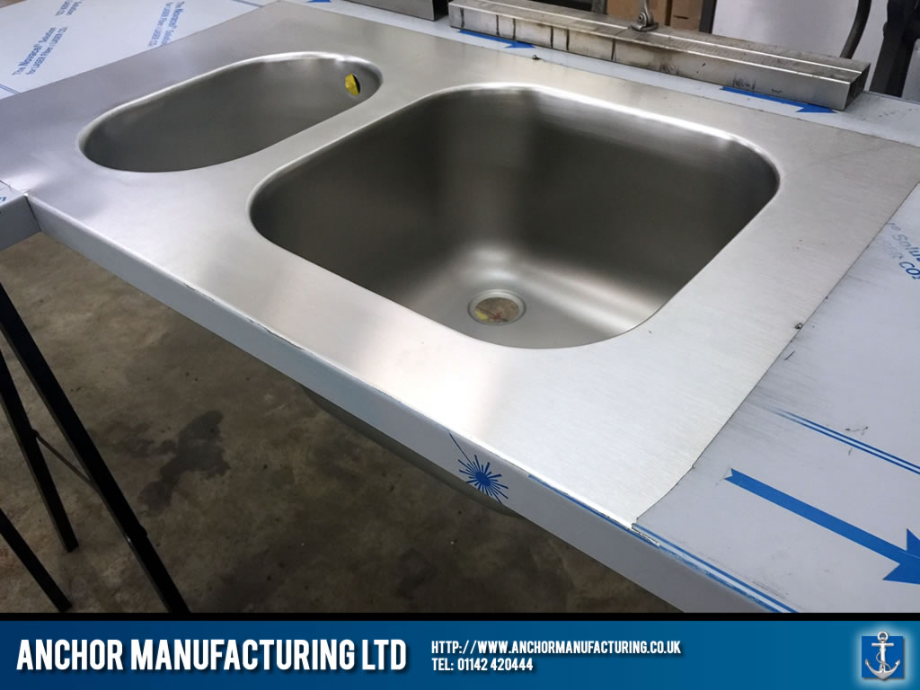 Fabricated Kitchen Sink Steel Sheffield