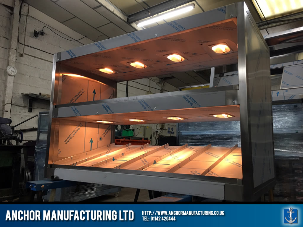Burger Chute Stainless Steel Heated Anchor Manufacturing Ltd